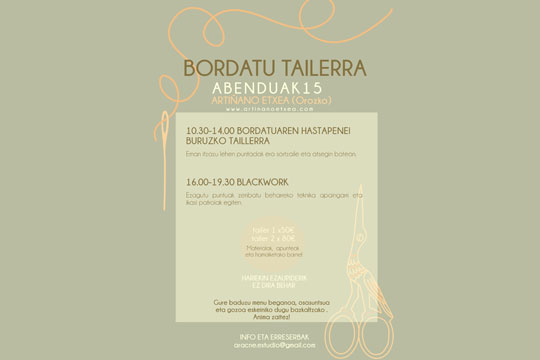 Talleres de Bordado y Blackwork