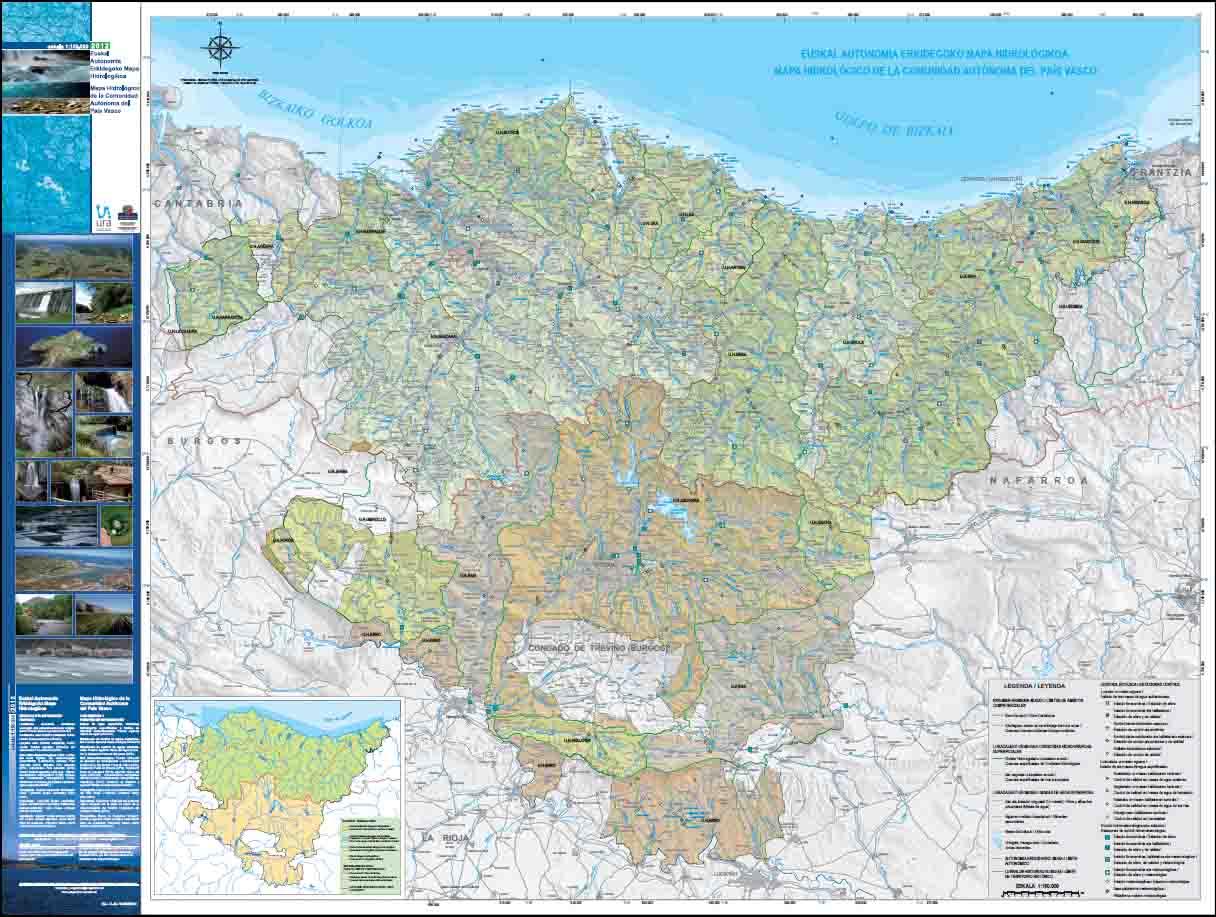 Mapa hidrológico de la Comunidad Autónoma del País Vasco 40 ...