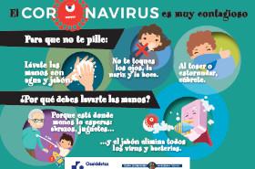 Cartel horizontal para niñas y niños