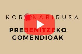 Koronabirusa prebenitzeko gomendioak
