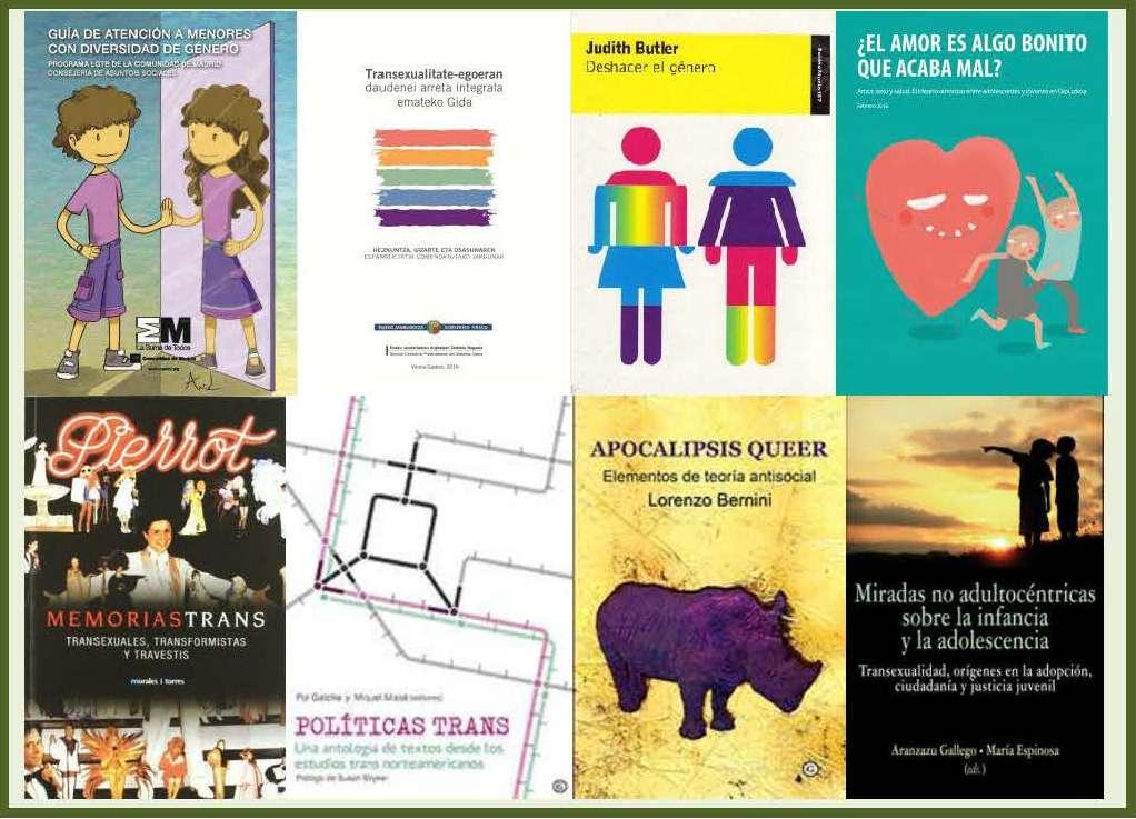 Bibliografía sobre transexualidad y otras diversidades