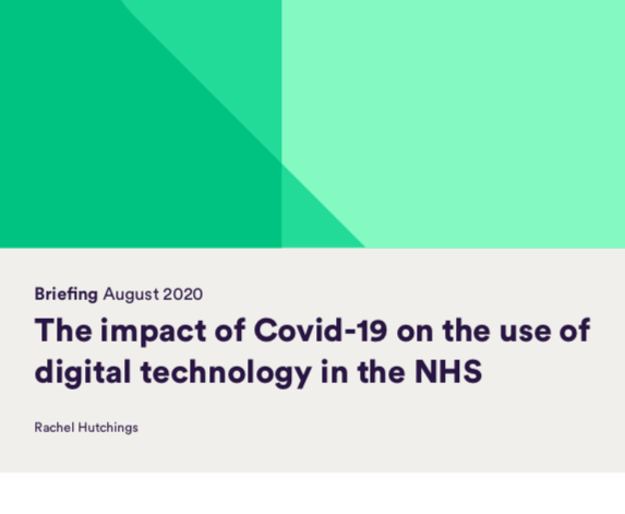 The impact of Covid-19 on the use of digital technology in the NHS. Briefing (Nuttfield Trust, 2020)